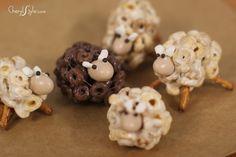 how to make Cheerios sheep snacks