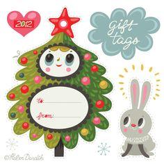 christmas holidays, free tags, christmas printables, free printabl, holiday gifts, helen dardik, christmas gift tags, christma printabl, christmas gifts