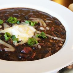 Black Bean Soup with Cumin #soup