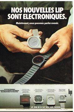 Publicité Advertising 1975 LES Nouvelles Montres LIP Sont Electroniques