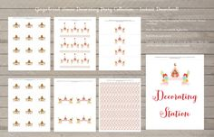 Gingerbread House Decorating Party - Printable Collection. Instant Download!! #gingerbread #gingerbreadparty #printables #holiday