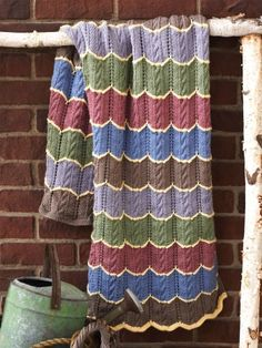 Cable Wave Blanket | Yarn | Free Knitting Patterns | Crochet Patterns | Yarnspirations