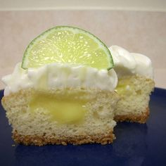 Lime cheesecake cupcakes