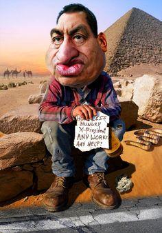 Hosni Mubarak - Job Hunting  @RodneyPike http://rwpike.blogspot.com/