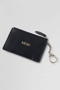 The perfect compact zip wallet for keeping cash & cards secure. Clips to the inside of your #handbag so it never gets lost. Landmark Dakota Keychain from Lands' End. #CarryTheDay
