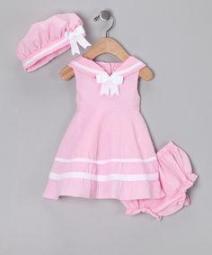 Light Pink Nautical Seersucker Dress Set - Infant... I'm so sad it got sold out so fast!!!