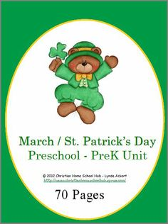 #Homeschool - St. Patrick's Day #Preschool #PreK