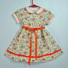 Toddler frock w/ peter pan collar