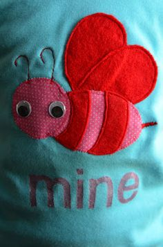 bee mine appliqued shirt and pattern
