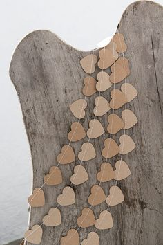 Kraft paper garland for rustic style wedding