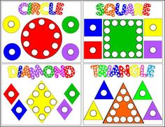 Shape Mats (use with Do-a-Dot markers or magnetic pom-poms)