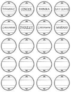 To A Pretty Life: Pretty Spice Labels