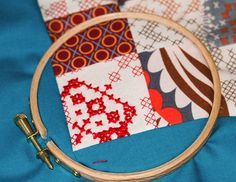 Cross stitch in the quilt