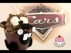 Cars Cupcakes! Make a Tow Mater Cup Cake - A Cupcake Addiction How To Tutorial. This tutorial and more available for FREE on our YouTube channel MyCupcakeAddiction