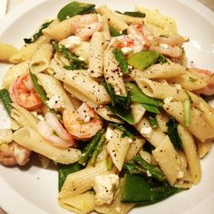 Summer Shrimp Pasta #ginghamcottage - #theodoreleaf- #shrimp #pasta. #summer