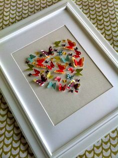 lovely butterfly heart frame