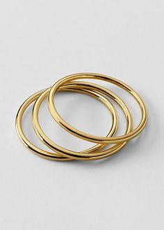 Gold Metal Bangle Bracelets