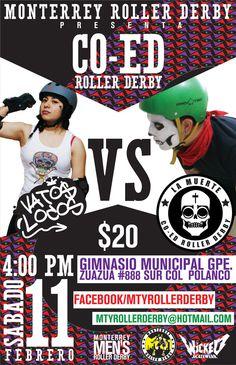 Monterrey Roller Derby by Jorge Liñan, via Behance