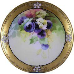 Thomas Bavaria Donath Studios Plum Motif Plate (c.1906-1928)