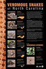 Venomous Snakes and Spiders of NC Poster Photos, info & range maps $5.00