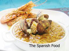 Arroz caldoso con almejas y langostinos http://www.thespanishfood.es/2011/05/arroz-meloso-de-almejas-querida-carmen.html