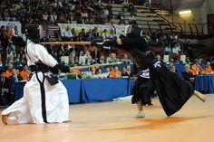 Takanabe's winning tsuki by kendodigital, via Flickr #kendo #budo #giappone #15wkc #tsuki