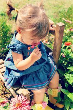 picking  sweet flowers