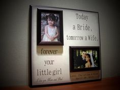 Personalized Wedding Picture Frame TODAY A BRIDE  Mother of the Bride, Father of the Bride Gift, Parent Thank you Gift. $70.00, via Etsy.