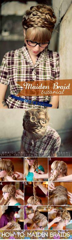 DIY Maiden Braid Tutorial