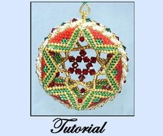 Star Within Ornament with Crystal Rope Edge Pattern at Sova-Enterprises.com. Lots of FREE Beading Patterns/Tutorials available from various designers!