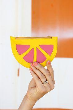 DIY: citrus wedge coin purse