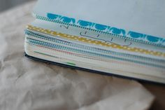 How to use washi tape to develop an organizational system in your journal or moleskine. daily journal, prayer journals, notebook, journal pages, tapes, washi tape, journal cards, masking tape, writing journals