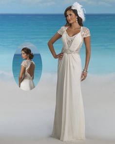 Here is a bridal dress with keyhole cut out back