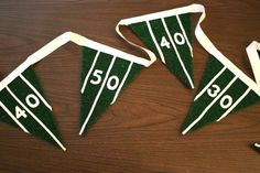 DIY football pennants