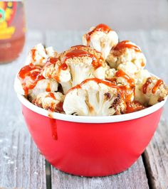 """Cauliflower """"chicken"""" nuggets. These are crazy-addictive. You just keep popping more and more into your mouth. Luckily, they're way healthier for you than KFC, and it's a great way to get kids to love veggies!"""