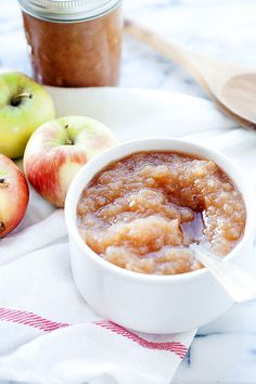 Spiced Slow Cooker Applesauce - Heather's French Press