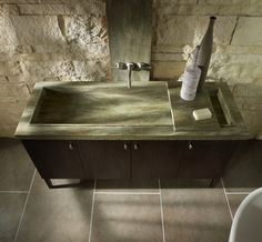 Corian Rosemary bathroom sink--  a reasonable design for a large sink