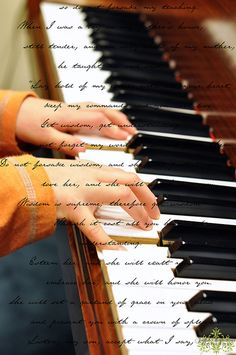 Playing the piano. http://adjustablepianobench.net