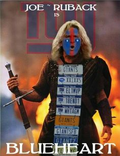 #tbt #Blueheart #braveheart #Giants