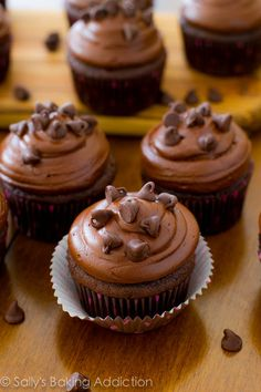 Death by Chocolate Cupcakes. Oh that sounds so good!!