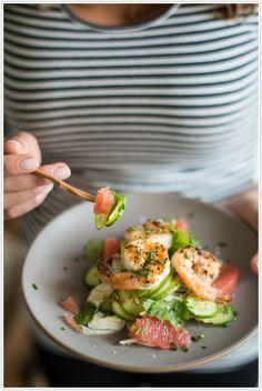 // citrus . fennel . shrimp