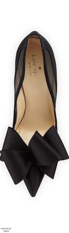 Kate Spade so kate, heel, woman shoes, black shoes, black stiletto, pump, dress shoes, big bows, kate spade