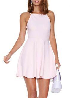 light pink, mini dresses, pink mini, sleeveless light