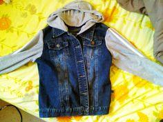 Hoodie Sleeved Denim Jacket :D #howto #tutorial