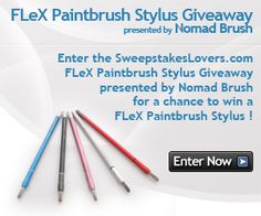 Enter the SweepstakesLovers.com FLeX Paintbrush Stylus Giveaway presented by Nomad Brush for a chance to win a FLeX Paintbrush Stylus !    http://www.sweepstakeslovers.com/our-giveaways/sweepstakeslovers-com-flex-paintbrush-stylus-giveaway-presented-by-nomad-brush/