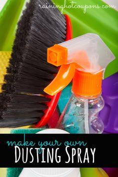 DIY Furniture Dusting Spray - Super EASY to make and works wonders!