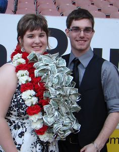 Carnation Flower Leis and a Money Lei