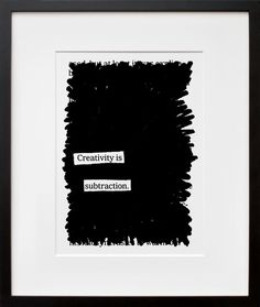 Creativity is Subtraction, by Austin Kleon | 20x200
