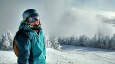 Skiing in Vermont on
