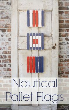 Nautical Pallet Flags #craftmonthlove #nauticaldecor @Jo-Ann Fabric and Craft Stores
